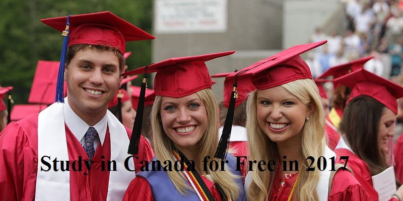 Study in Canada for free 2017