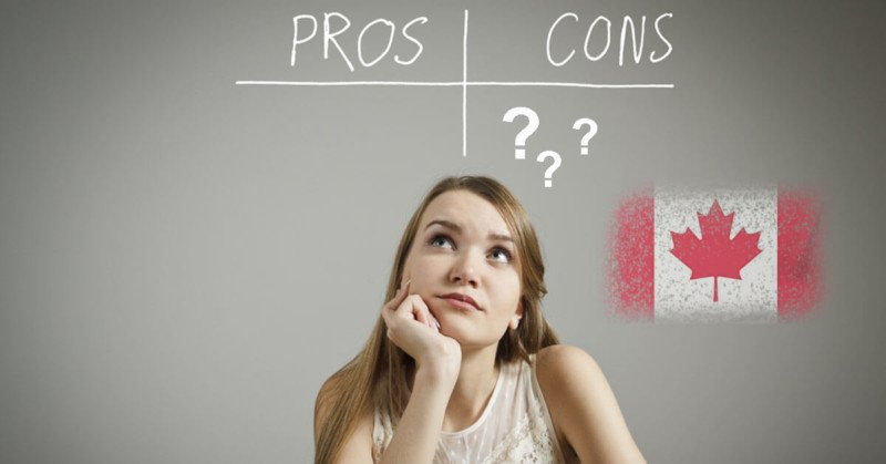 Pros and cons of Studying in Canada